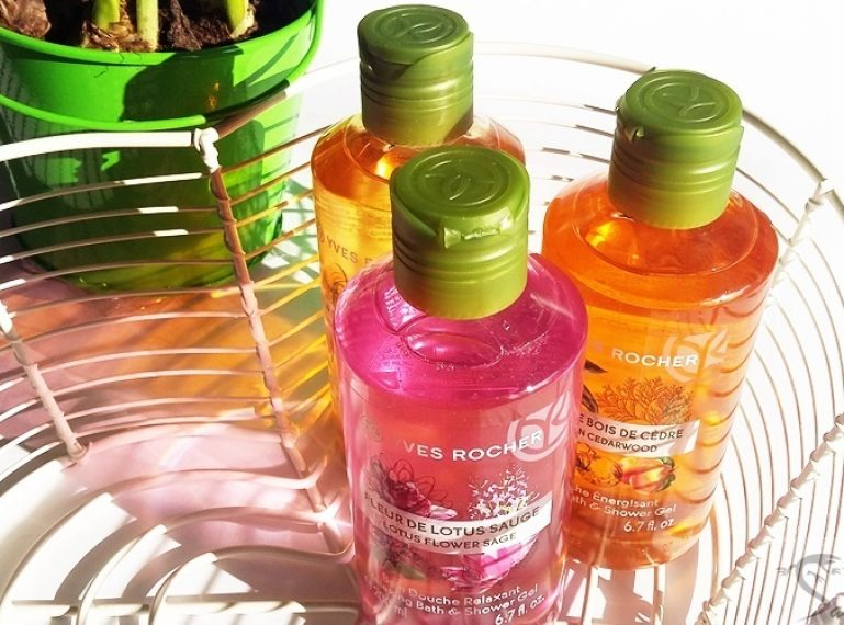 Concentrated on the nature. My personal favourite: Yves Rocher shower gel
